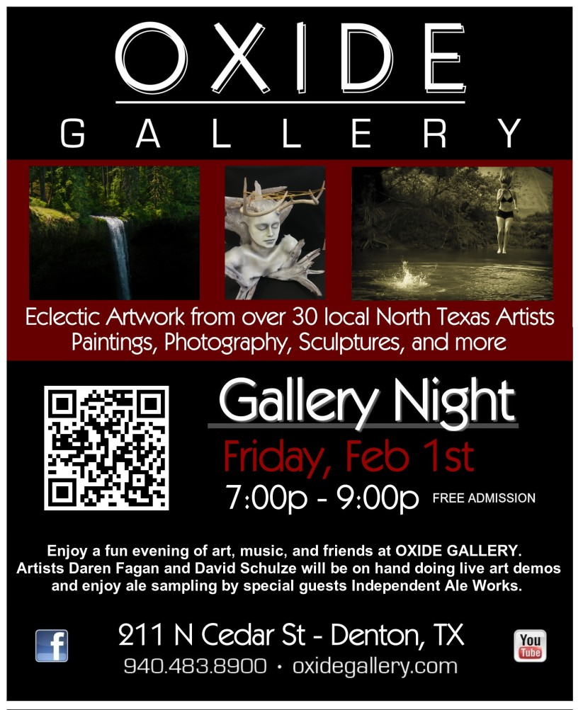 First Friday Gallery Night Flier - Feb 2013