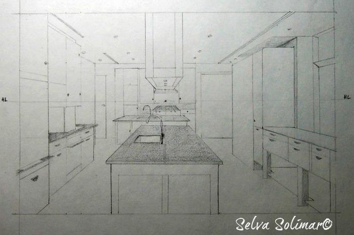 Kitchen 1Point Perspective