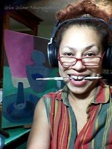 120/365: yes, I forgot to take the selfie, but remembered juuuust after midnite...I lost track of time working on my final painting! :P 120/365: si, se me olvido tomar me mi selfie, pero me acorde unos minutos despues de la media noche...perdí la noción del tiempo trabajando en mi pintura final! :P