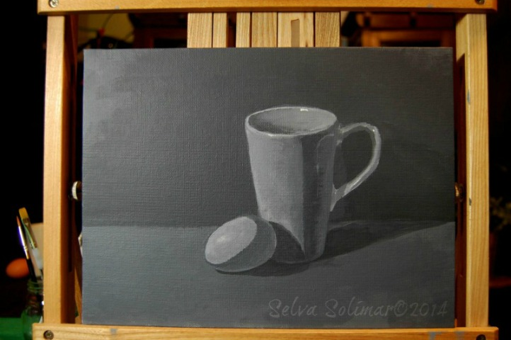 Week #1 - Still Life Painting - Black & White Palette